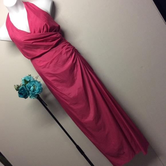 Newport News Dresses Sz 18 Coral Halter Style Party Dress Poshmark